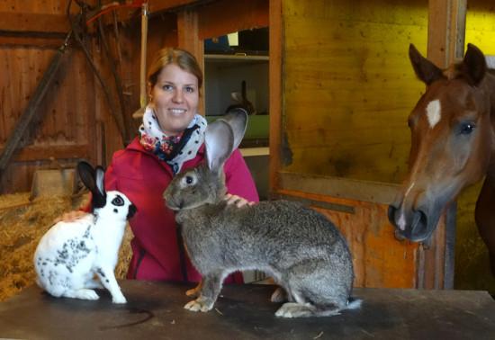 Marion Vogt-Wolfinger, die enbenso sympathische wie vielseitig engagierte Tierliebhaberin aus Balzers/FL